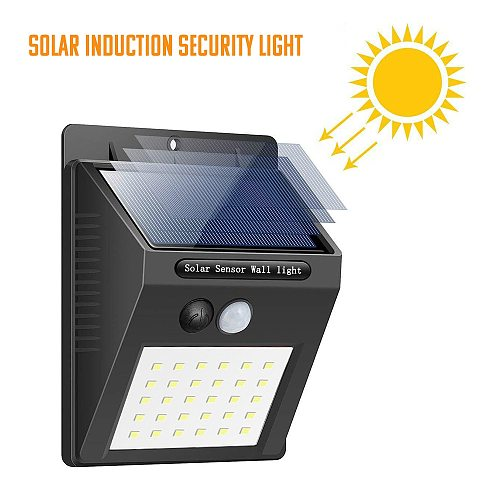 20 LED Solar Light Outdoor Solar Lamp Powered Sunlight Waterproof PIR Motion Sensor Street Light for Garden Decoration