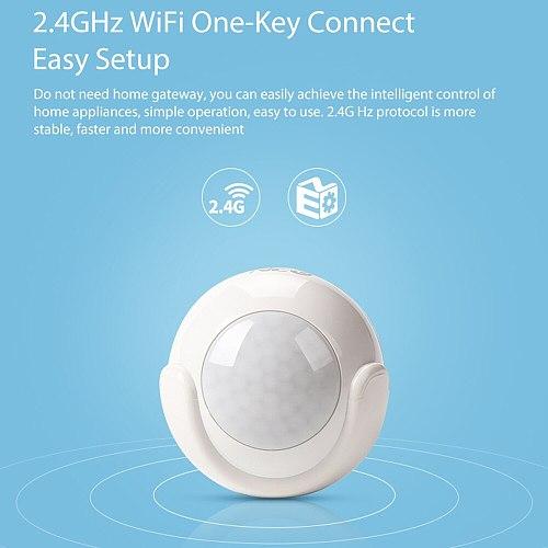 NEO COOLCAM Smart WiFi PIR Motion Sensor Human Body Sensor Detector Home Alarm System Smart PIR Motion Sensor Tuya Smart Life