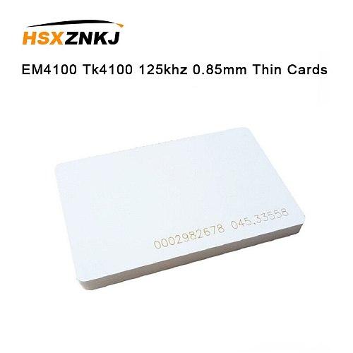 5pcs EM4100 Tk4100 125khz 0.85mm Thin Cards Access Control Card Keyfob RFID Tags Sticker Key Fob Token Ring Proximity Chip