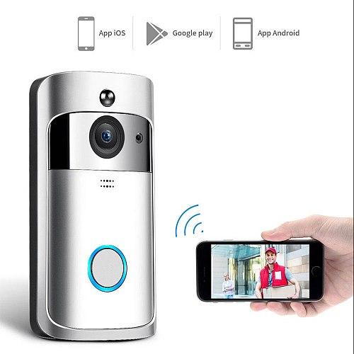 Smart Video Doorbell Wireless WIFI DoorBell Camera 720P Home Security IP Intercom Door Phone Battery Powered PIR Alarm Cloud