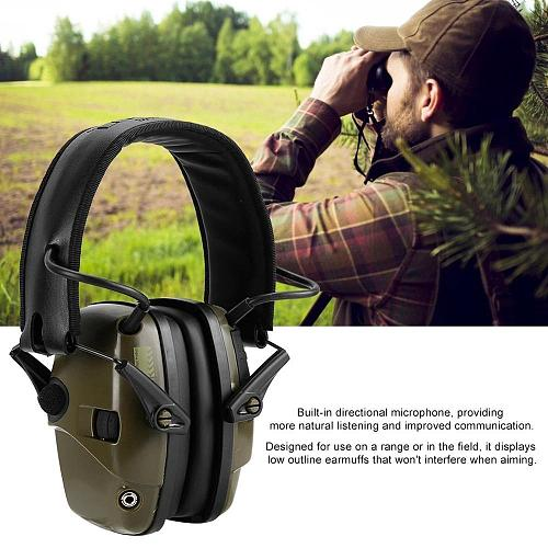 Electronic Shooting Ear Protector Hunting Anti-noise Ear Protector Outdoor Sport Sound Amplification Headset Hearing Protector