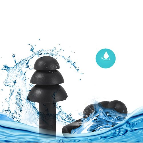 6Pairs Box-packed Comfort Anti-Noise Earplugs Reduction Silicone Soft Ear Plugs Swimming Silicone Earplugs Protective For Sleep