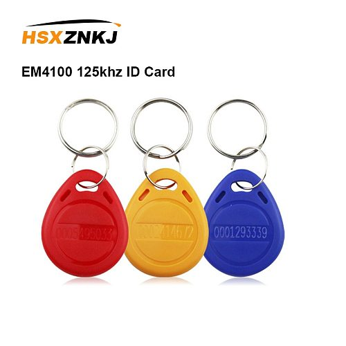 5/10pcs EM4100 125khz ID Card Sticker Key Keyfob RFID Fob Token Ring Proximity Chip Tag Tags