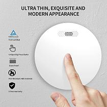 Ultra Thin Standalone Smoke Detector Home Security  Photoelectric Rauchmelder Fire Alarm With CE Approval