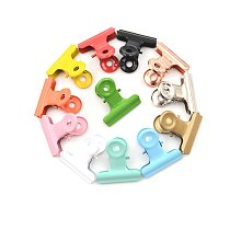 5pcs Colorful Metal Binder Clips Cute Folder Notes Letter Paper Clip Documents Clamp School Office Stationery 12 Colors