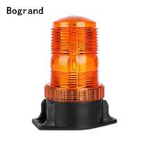 1Pcs 30LED 5730 Car LED Flashing Amber Beacon Flexible Warning Light 12V-36V For Tractor SUV Boat