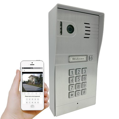 New HD Wireless 3G 4G WiFi IR Waterproof Doorbell DoorPhone Iphone Android Mobile Video Door Phone Intercom System Code Keypad