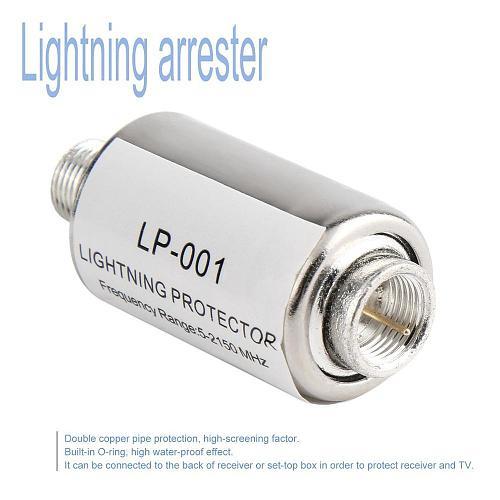 Lightning Arrester Protector Coaxial Satellite TV Lightning Protection Devices Satellite Antenna Lightning Arrester