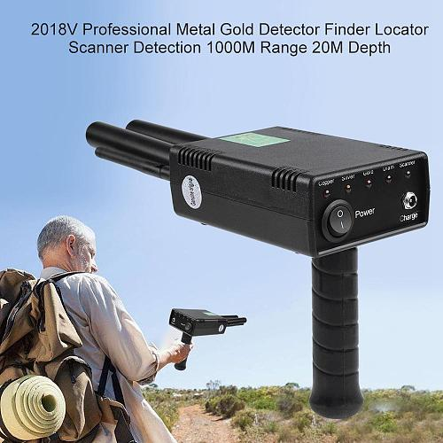 Professional Metal Gold Detector Finder Long Range Diamond Gold 1000M Range 20M Depth 100-240V EU Plug Underground Detector