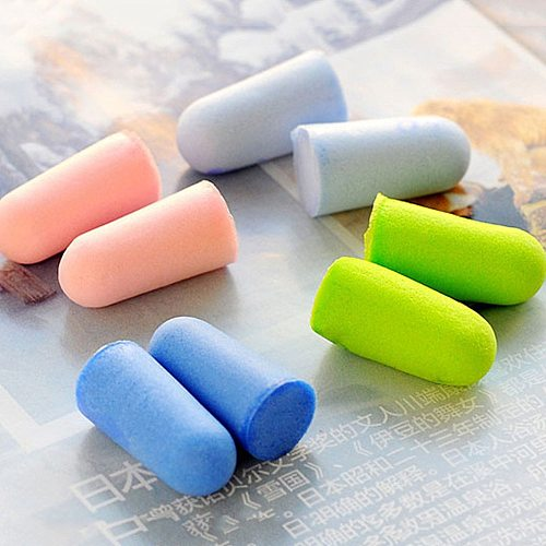 20 Pcs/10 pair Soft Foam Ear Plugs Tapered Sleep Noise Prevention Earplugs Study Good Sleep Safety Supplies