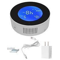 WIFI Tuya Smart Natural Gas Leakage Detector Methane CH4 Leak Alarm Monitor Digital LCD Temperature Sensor for Home Kitchen Use