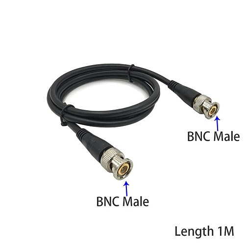 1M BNC Male to Female Plug CCTV Extension Coaxial Line Cable  Male to Male Security Monitoring 0.5m 2m 3m 5m 3.3ft Long Black