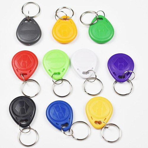10pcs em4305 Copy Rewritable Writable Rewrite Duplicate RFID Tag Proximity ID Token Key Keyfobs Ring 125Khz Card Access