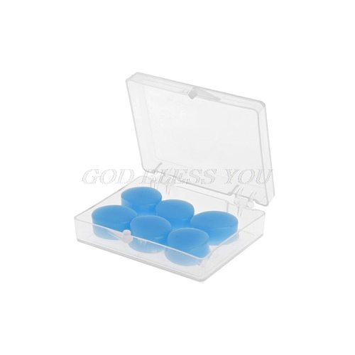 6PCS Earplugs Protective Ear Plugs Silicone Soft Waterproof Anti-noise Earbud Protector Swimming Showering Water Sports