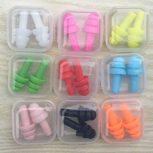 5Pairs Silicone Sound Insulation Earplugs Anti Snoring Travel Sleeping Noise Reduction Ear Plugs Swimming Protective Earmuffs