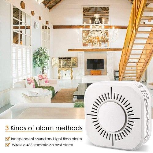 RF433 Smoke Detector,Wireless Smoke Fire Alarm Sensor,Security Protection Alarm for Home Automation,Work with Sonoff RF Bridge