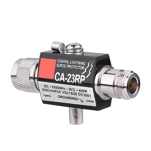 Lightning Arrestor Lightning Surge Protector N Male Plug to N Female Coaxial 0-2.5GHZ 400W CA-23RP 50ohm DC-2500MHz N Connector