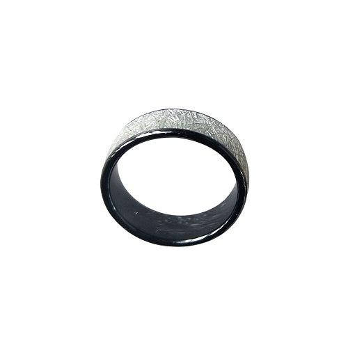 125KHZ or 13.56MHZ RFID Ceramics Smart Finger Bright silver Ring Wear for Men or Women