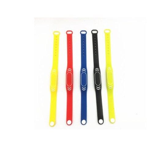 3pcs 125khz Silicone Bracelets wristband TK4100 Rfid Wristband Access Control Card Wrist band Bracelet Tag Adjustable length