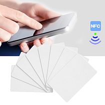 10PCS NFC NTAG215 White Card For TagMo Tags Chip Stickers Tag Lable Forum Type2 Sticker for NFC Enabled Devices