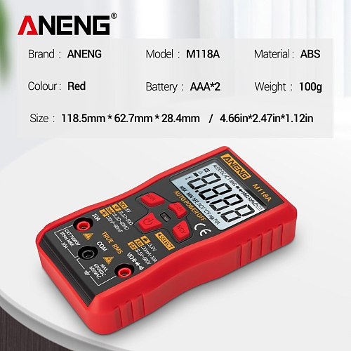 High-precision Digital Multimeter Digital Display Type Fully Automatic Multi-function High-precision Test Meter