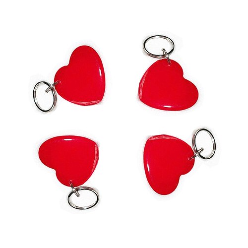 10pcs Red Access control IC cardSmart Keyfobs Key Tags Card for 1K S50 NFC 13.56MHz ISO14443A