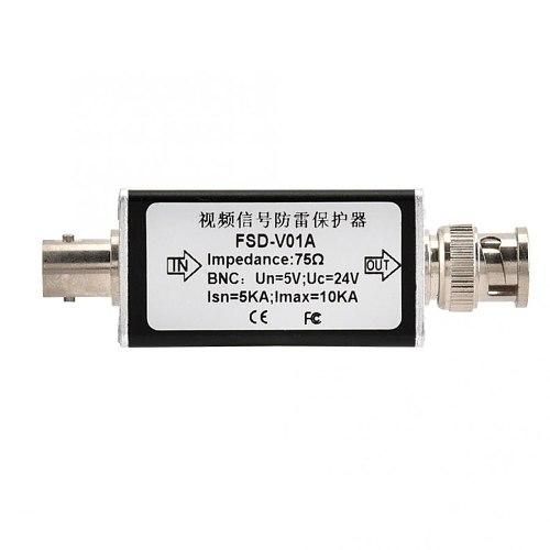 CCTV Video BNC Surge Protector Analog Camera Thunder Lightning Arrester Protection Device 24V New Arrival