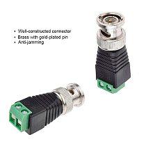 Free shipping BNC Connectors for AHD Camera CVI Camera TVI Camera  CCTV Camera Coaxial/Cat5/Cat6 Cables
