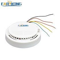 Earykong Wired Smoke Detector Electronic Smoke Sensor For Home Burglar GSM / Wifi / Other Alarm System