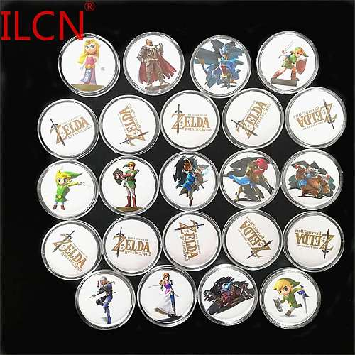 New Data Full Set Legend of Zelda 24Pcs The NFC Card Collection Coin Cards Ntag215 NS Switch WiiU Link Fast Shipping with box