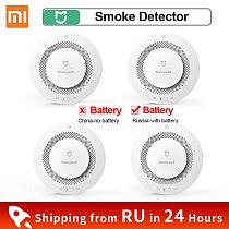 Xiaomi Mijia Honeywell Fire Alarm Detector Audible Visual Smoke Sensor Remote MiHome APP Smart Control Fire Alarm Work gateway 3