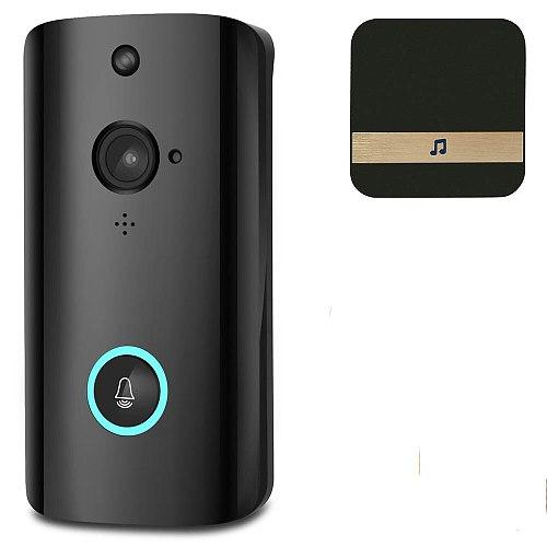 WiFi Video Doorbell Camera Wireless Video Doorbell WiFi Home Security Phone Bell Intercom 720P Intercom