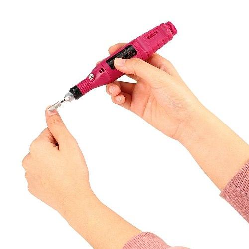1 Set Professional Electric Nail Drill Machine Manicure Machine Pedicure Drill Set Ceramic Nail File Nail Drill Equipment Tools