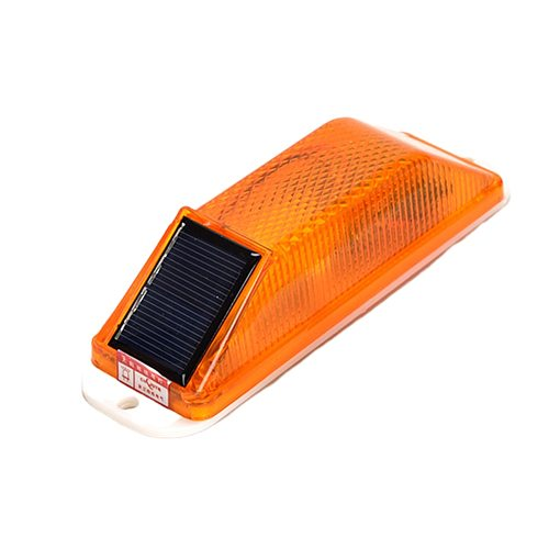 Warning LED Lamp Strobe Flash Traffic Caution Light Chip Control Bridge Construction Rechargeable Night Driving Solar Powered