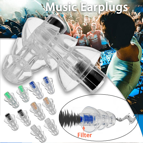 27db Silicone Earbud Musician Filter Earplugs Noise Reduction Cancelling Hearing Protection Earbud Reusable Sleep Care for DJ