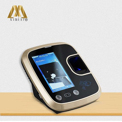 TCP/IP Fingerprint & Face Access Control Machine System Support 1500faces/5000fingers/5000cards/  And Touch Screen Free SDK