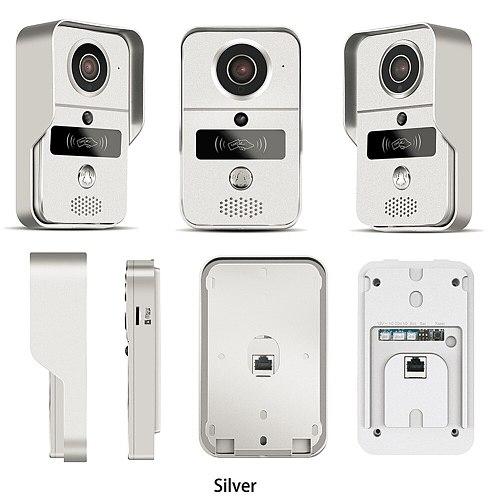 Wireless SD Card Video Recording Video Door Phone+RFID Keyfobs doorBell Wifi IP Door Bell POE Camera For ONVIF Connect NVR