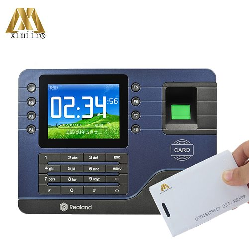 Realand TCP/IP Biometric Fingerprint Time Attendance A-C091 RFID Card Employee Time Clock Support P2P Function