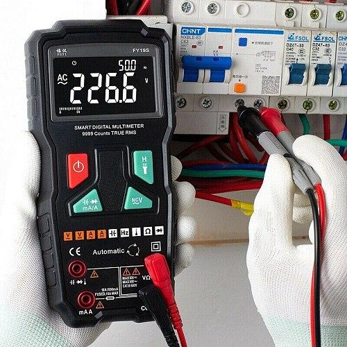 High Speed Intelligent Digital Multimeter Count Test Tool 9999 Counts Multi Meter Y19S FKU66