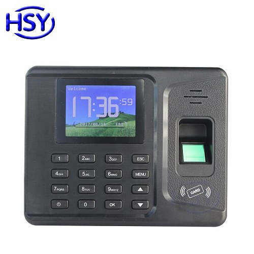 Biometric Fingerprint Time Attendance RFID Employee Recorder Recognition Clock Device With Free Software
