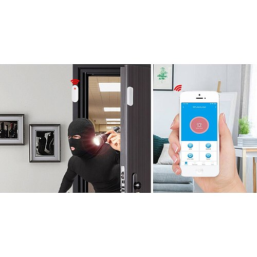 433MHz Door Window Alarm Sensor Wireless Magnetic Switch Contact Detector Signaling for   Intruder Security Alarm System