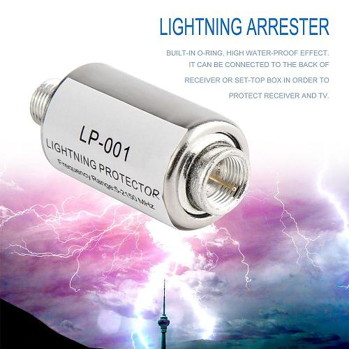 newlighting protector coaxial satellite TV lightning protection devices satellite antenna lightning arrester 5-2150MHz Wholesale