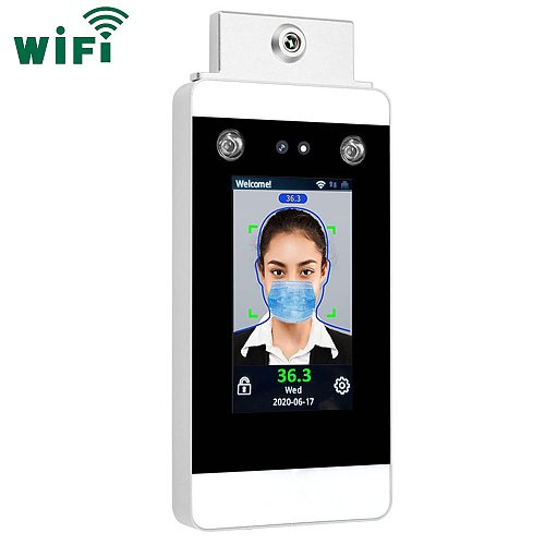 WIFI TCP/IP Temperature measurement Facial Recognition Time Attendance and Access Control System