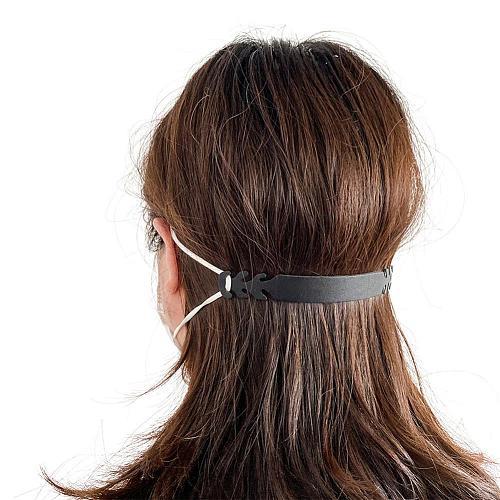 10 PCS Ear Strap Hook For Dust Face Mask Extension Hook Adjustable Ear Strap Hook Buckle Wear Ear Anti-slip Rope Holder Black