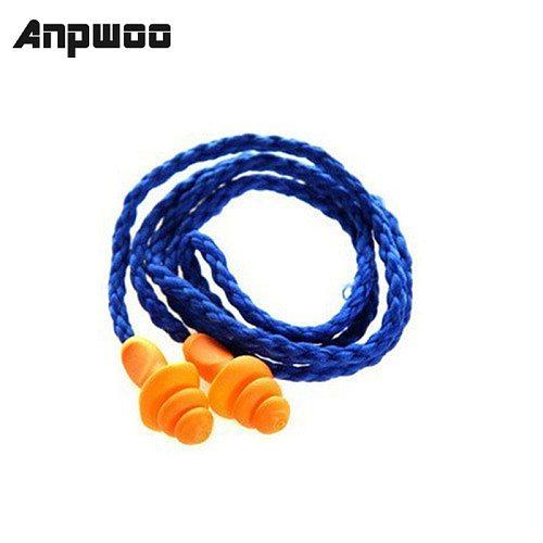 10Pcs/lot Soft Silicone Corded Ear Plugs Ears Protector Reusable Hearing Protection Noise Reduction Earplugs Earmuff Sleep