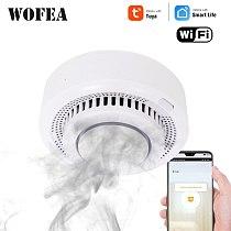 Wofea wifi smart Smoke fire Alarm Home Security System Firefighters Tuya smart life home device no need hub