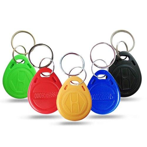 100pcs/Lot 125khz RFID Keychain Stickers Card Tag ID Keyfob TK4100 Door Entry Access Control EM KeyChain Token