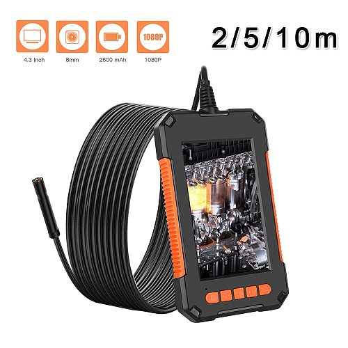 2M 5M 10M 4.3'' HD LCD Borescope Industrial Video Inspection Camera Endoscope USB Car Repair Pipe Inspection Real-time Watch