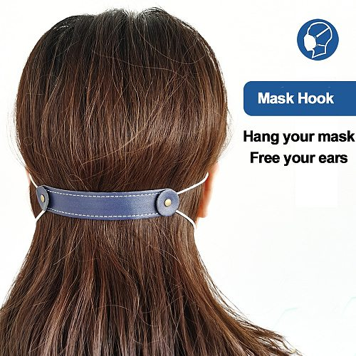 Ear Hook Strap Holder Extension For All face Mask Ear Protector soft Leather Grip Anti-tightening Release Pain Ear Mask Buckle