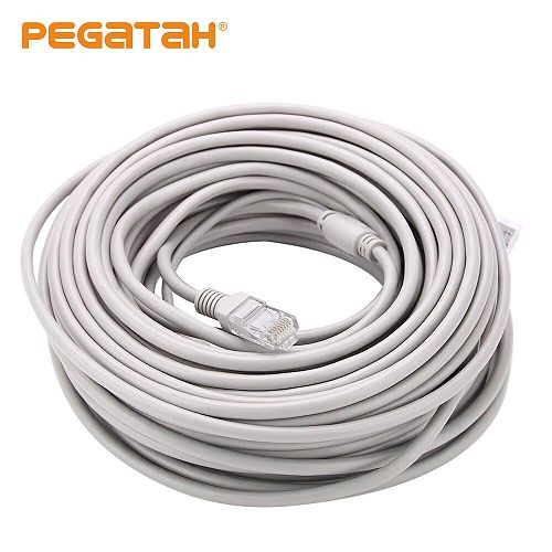 CCTV Cable RJ45 for video surveillance cable camera Ethernet Network DC Power 2 in 1 Network Extension Lan 5/10/20/30m IP Camera